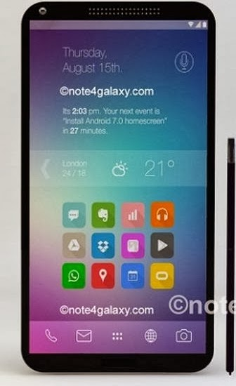 Samsung Galaxy Note 4 in Trend