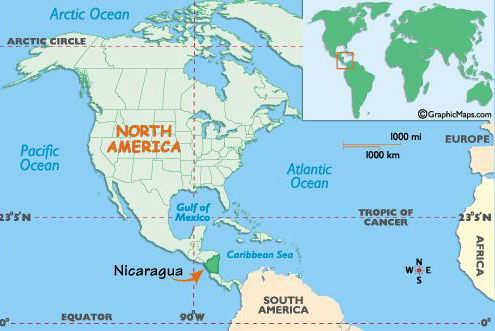 Need Greating In Nicarauga About Nicaragua - Country map of nicaragua
