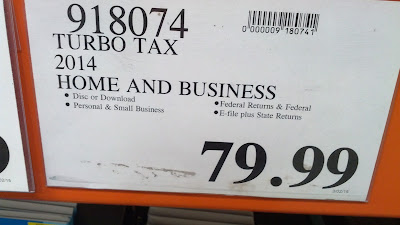 TurboTax 2014 Home and Business software at Costco