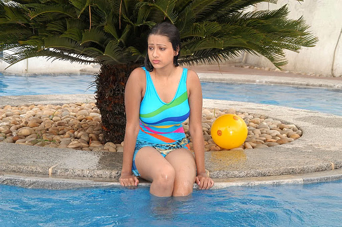 Madalasa Sharma Bikini Pics - Hot In Swimming Pool Costume - BIKINI PICTURES - Famous Celebrity Picture