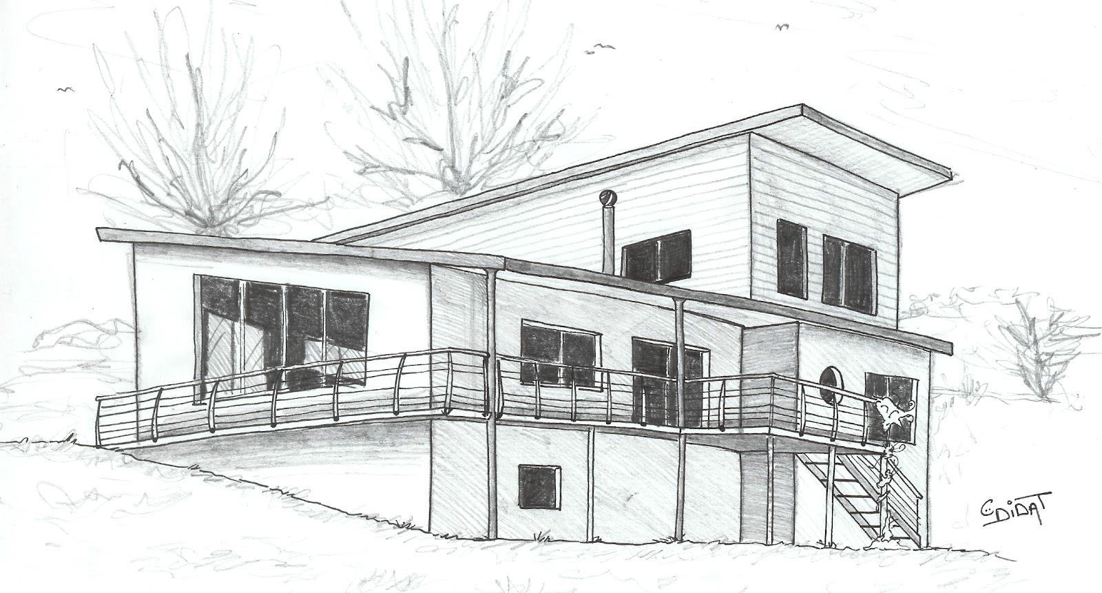 Didat studio dessinateur ind pendant my house - Maison en noir et blanc ...