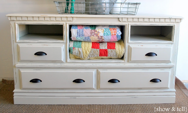 {Before & After} - dresser turned TV console