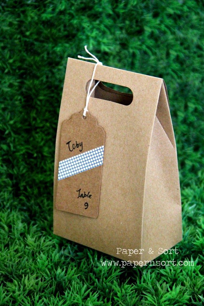 strudy kraft paper bag for wedding / party favor