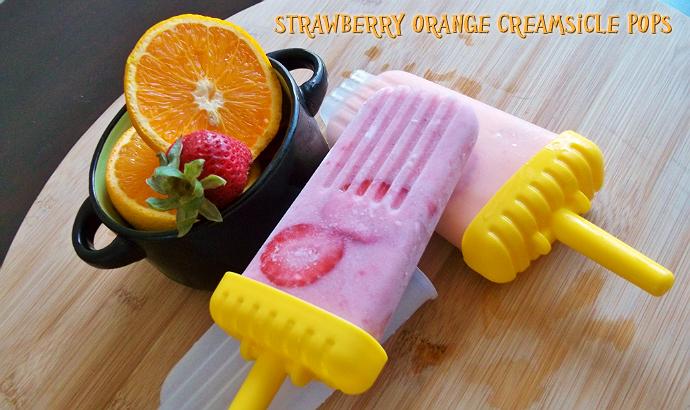 Strawberry Orange Creamsicle Pops