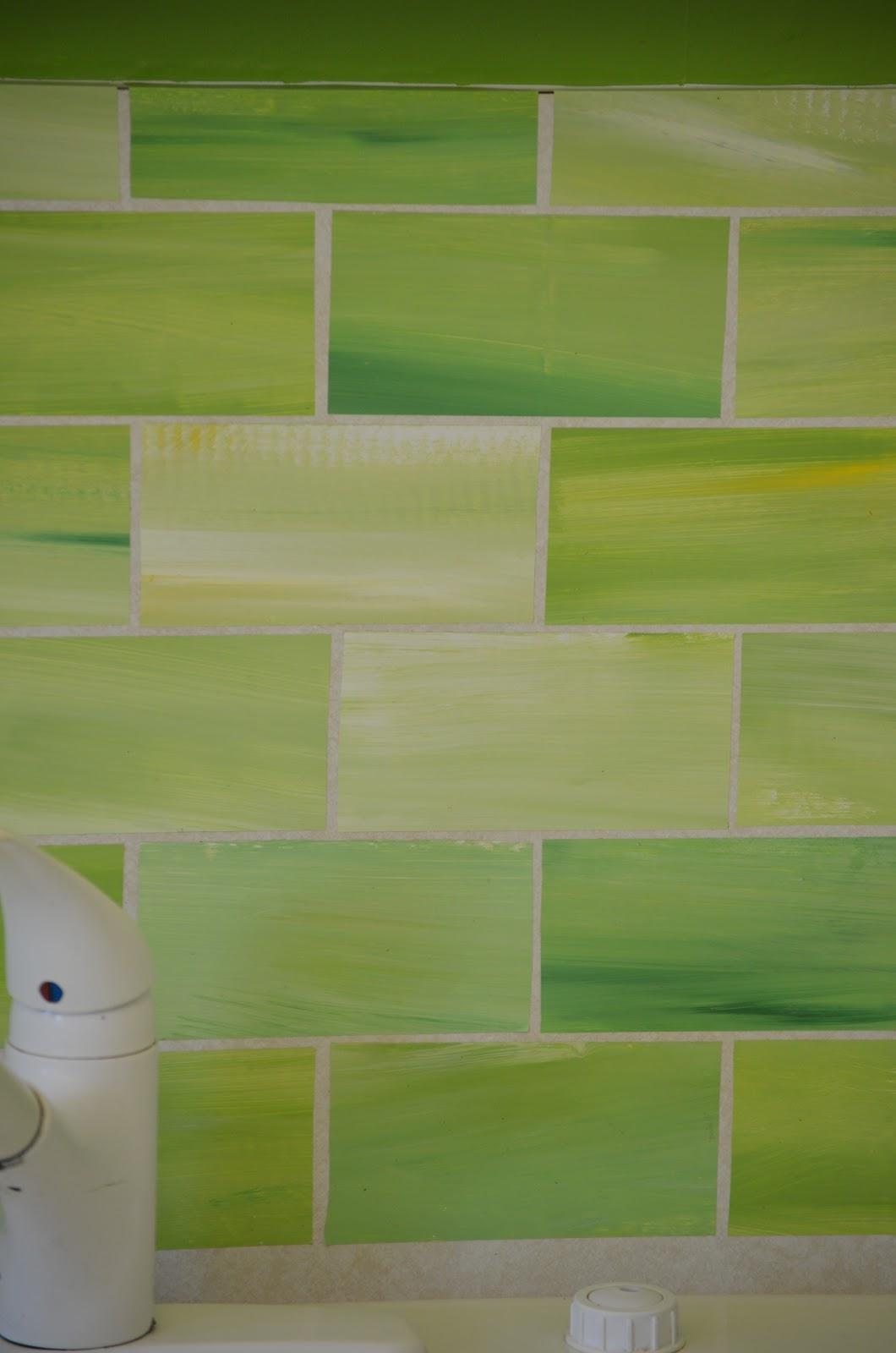 crafty dee faux glass tile backsplash