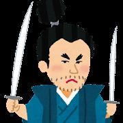 宮本武蔵の似顔絵イラスト
