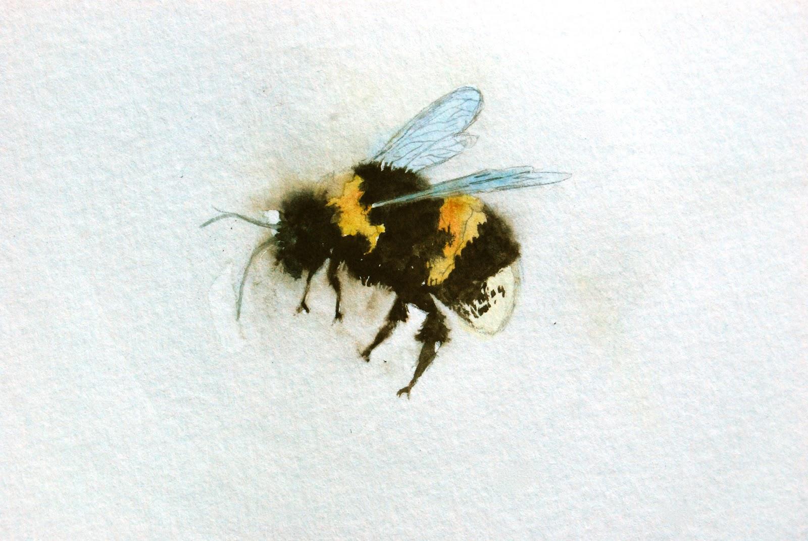 Bumble Bee In Haze