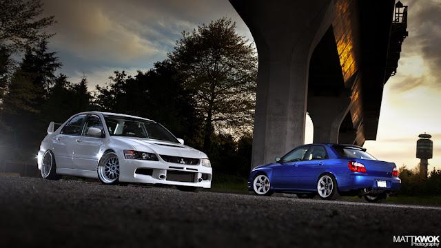 Mitsubishi Lancer Evolution & Subaru Impreza GD japoński sportowy sedan AWD