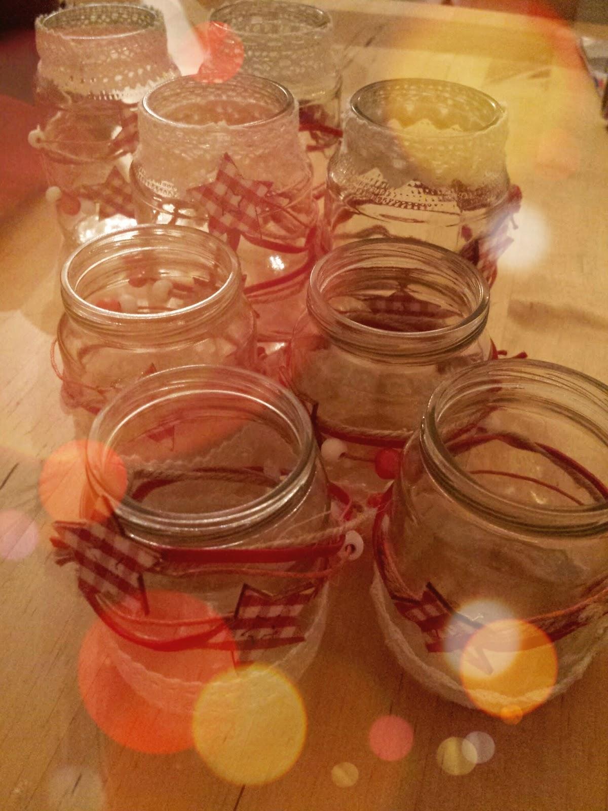 Neuer glanz f r alte gl ser apfelb ckchen familienblog - Glaser dekorieren mit sand ...