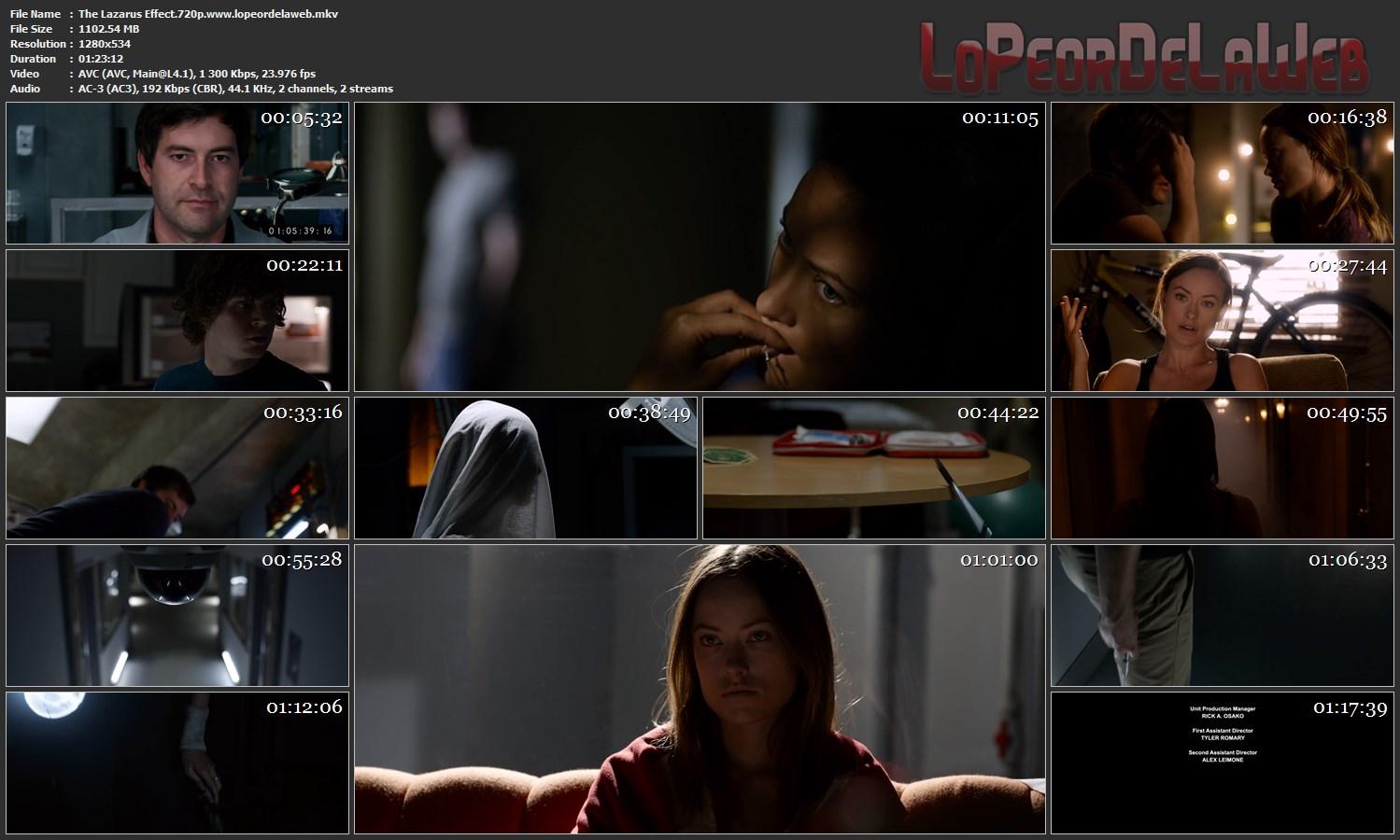 The Lazarus Effect 2015 BRrip 720p Latino-Inglés