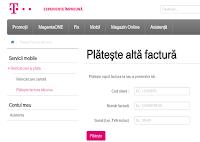 Imaginea site-ului unde se pot plati facturile pe net