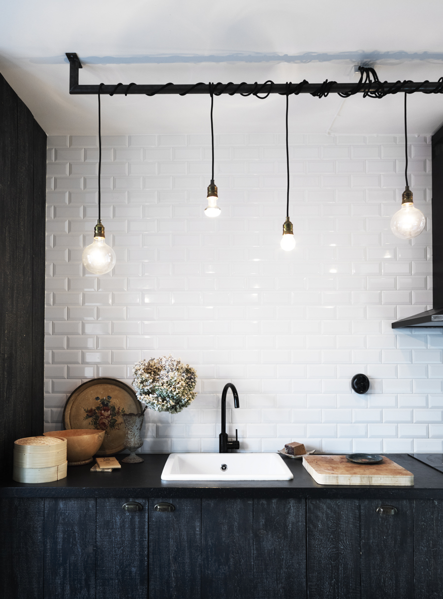 Design idea a bright idea in kitchen lighting for Over the kitchen sink pendant lights
