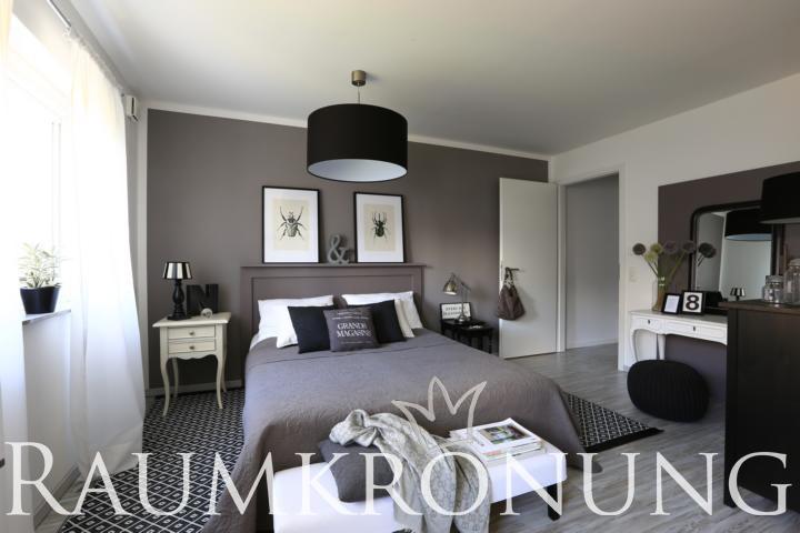 Schoner wohnen tapeten schlafzimmer mit holz betten komforthohe 70 sch ner wohnen - Schner wohnen schlafzimmer gestalten ...