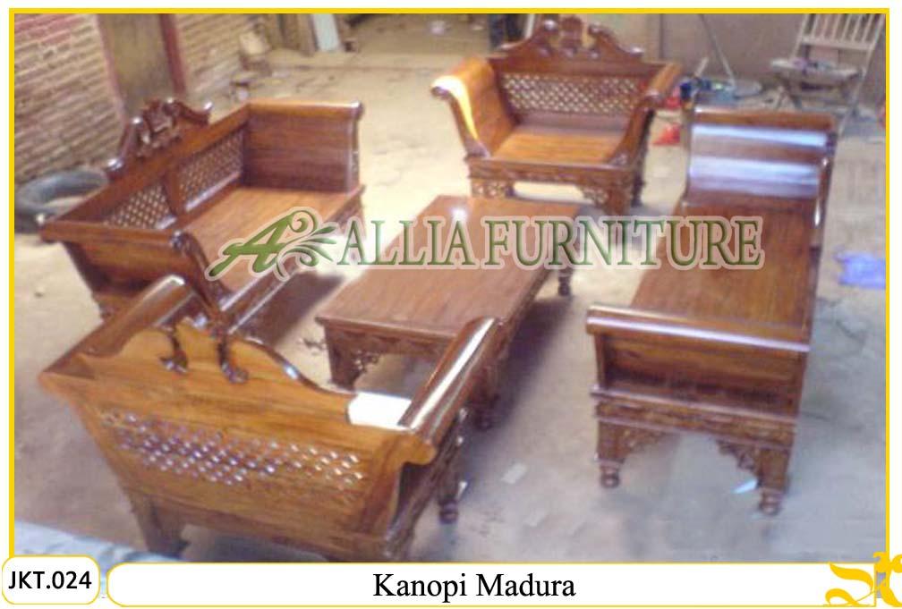 , Set kursi tamu meja ukiran kayu jati kanopi madura kursi tamu meja ...