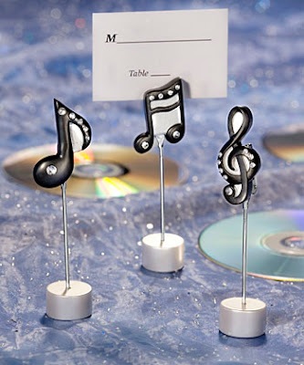 Table Decor for Musical Wedding Theme