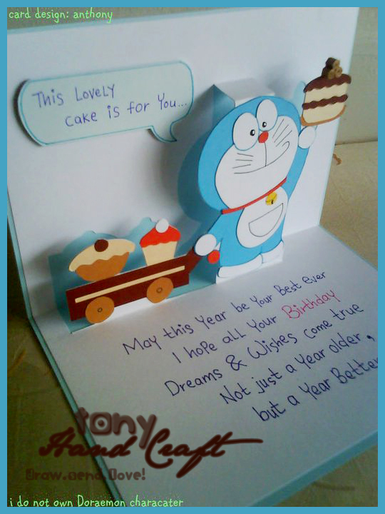 Tony Hand Craft Specially Requested And Made Doraemon Birthday
