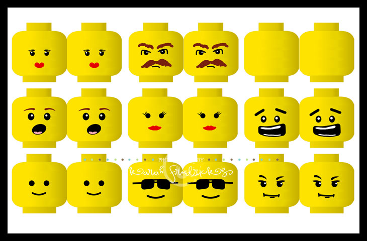 lego minifigure head template play on info