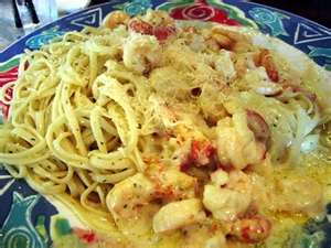 Recipes for scallops and shrimp pasta