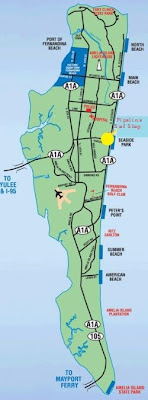 Highway map of Amelia Island