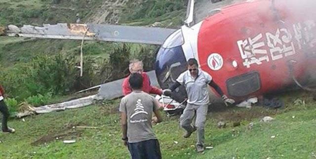 सिम्रिक एयरको हेलिकप्टर दुर्घटना, यात्रु सकुशल
