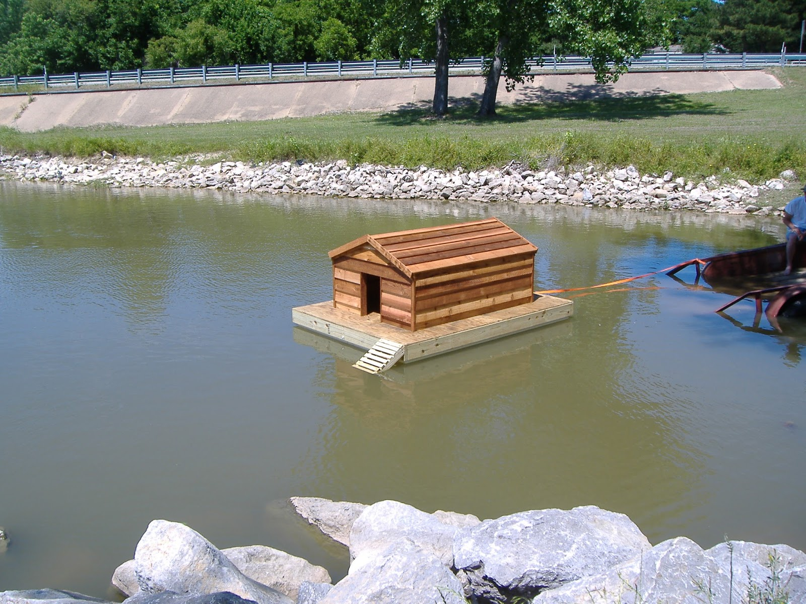 custom floating duckhouse july 2013