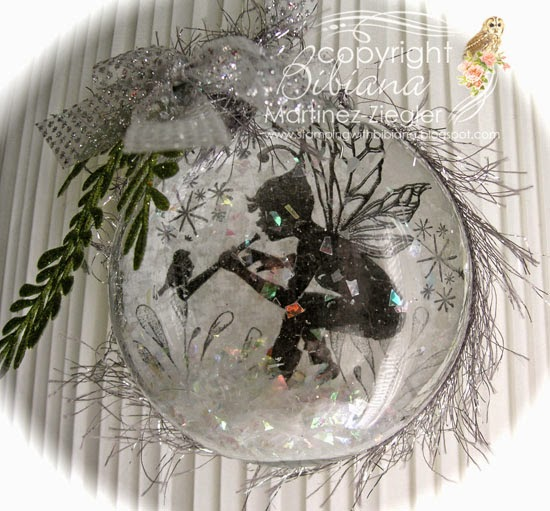 lavinia snow ornament front