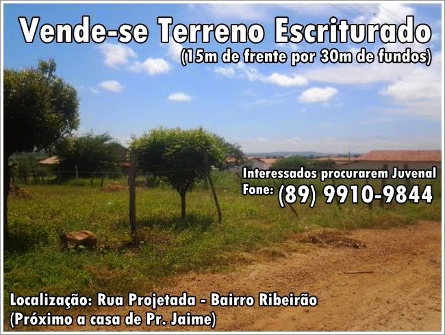 Vende-se terreno escriturado