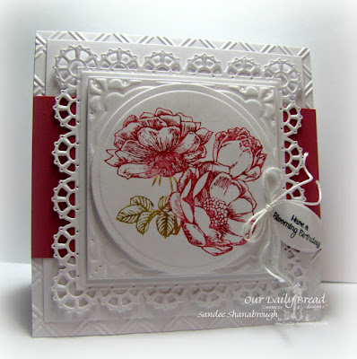 Our Daily Bread Designs Stamp Sets: Fragrance, Home Sweet Home, Our Daily Bread Designs Custom Dies: Mini Tags, Layered Lacey Squares, Matting Circles