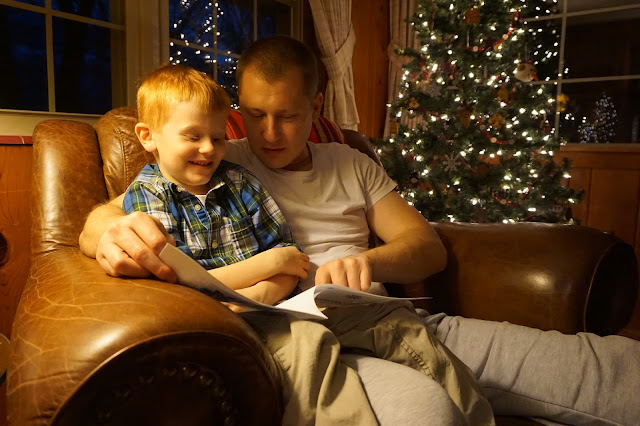 Porter Reading to Daddy