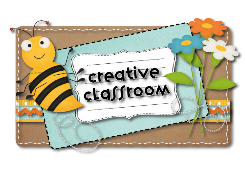 Picture of bee in flowers with text: Creative Classroom