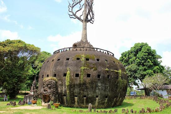 Tour de potiron - Parc du Bouddha - Vientiane