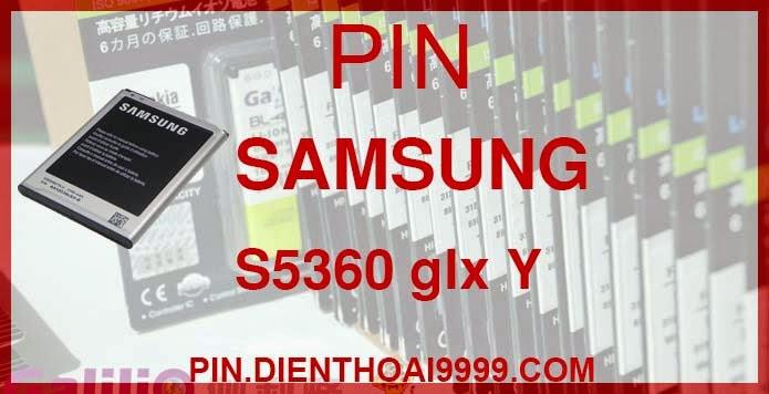 Pin Samsung S5360  - Pin Samsung S5360 Chính hãng - Giá 190.000 - Bảo hành: 6 tháng  - Pin Samsung S5360 dung lượng cao 1300 mAh - Giá 170.000 - Bảo hành: 6 tháng   - Pin tương thích với Samsung Galaxy Pocket Galaxy Y Galaxy Y Duos GT-S5300 GT-S5360 GT-S5360 Galaxy Y GT-S5368 GT-S5380 GT-S5380D GT-S5380D Wave Y GT-S6102 GT-S6102 Galaxy Y Duos Wave Y  Thông số kĩ thuật: - Pin Samsung S5360 được thiết kế kiểu dáng và kích thước y như pin nguyên bản theo máy, Pin tiêu chuẩn, chất lượng như pin theo máy. - Kích thước: 5.7 cm x 4.2 cm x 0.5 cm - Dung lượng: 1200 mah / 1300 mAh - Điện thế: 3.7V - Công nghệ: Pin Li-ion Battery  Mô tả sản phẩm: - Pin Galilio nhờ nghiên cứu và phát triển công nghệ lithium nên đã đạt được pin dung lượng cao nhất cho phép (từ 1,5- 2 lần) nhưng vẫn đảm bảo được chất lượng cao, đã vượt qua nhiều tiêu chuẩn chất lượng như ISO 9001, ISO 1400I, CERTIFICATED, hãng cũng ứng dụng Công Nghệ an toàn mà những hãng pin khác không có được: Controller IC, Control swithches, Temperature Fuse.. - Thiết kế kiểu dáng và kích thước y như pin nguyên bản theo máy, thuận tiện và dễ dàng thao tác, pin dung lượng cao cung cấp đủ nguồn điện cho máy sử dụng được trong thời gian dài, có thể mang đi bất cứ đâu để phòng khi pin của máy bạn hết mà không có điều kiện để sạc. - Cho phép bạn giữ các cuộc nói chuyện và bảo đảm cho bạn không bỏ lỡ các cuộc gọi điện thoại quan trọng - Pin sạc bằng cách gắn vào điện thoại và sạc như pin gốc - Sản phẩm đạt tiêu chuẩn tuyệt đối về an toàn cháy nổ - Bảo hành đổi pin mới trong 6 tháng.  GIAO HÀNG VÀ BẢO HÀNH TẬN NHÀ  Quý khách có nhu cầu mua pin,  hãy liên hệ với chúng tôi:  0904.691.851 - 0976.997.907  Website: http://pin.dienthoai9999.com Mua số lượng lớn: 0942299241  - Hướng dẫn sử dụng, bảo quản pin: http://pin.dienthoai9999.com/p/huong-dan-su-dung-pin - Quy định bảo hành: http://pin.dienthoai9999.com/p/quy-dinh-bao-hanh-pin - Khách hàng góp ý: http://pin.dienthoai9999.com/p/khach-hang-gop-y  Xem thêm pin cùng loại:  - - -   Một 