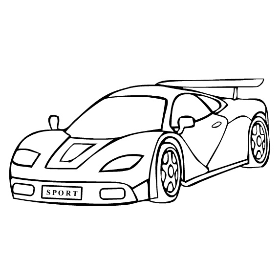 Sports Car Coloring Pages Printable Free