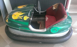 vintage green bumper car