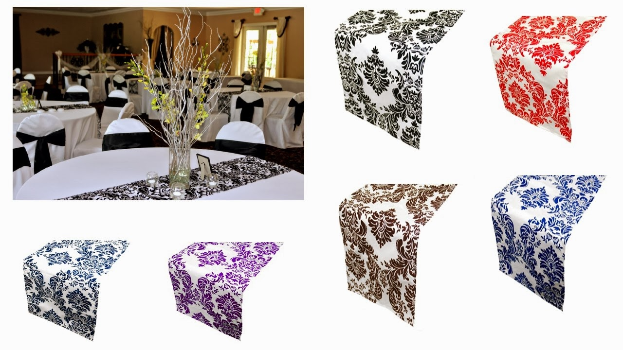 TABLE RUNNERS IN DAMASK