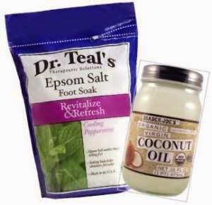 epsom salts, coconut oil