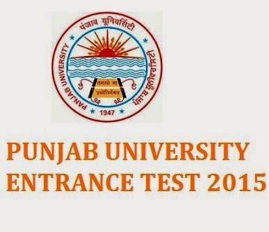 PUNJAB UNIVERSITY  ENTRANCE TEST 2015