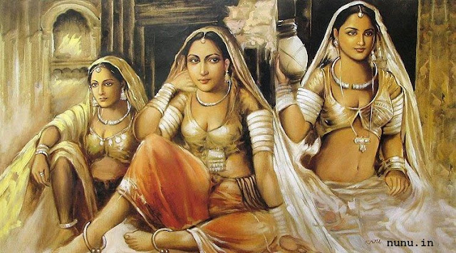 Rajasthani Girls Art Paintings 30