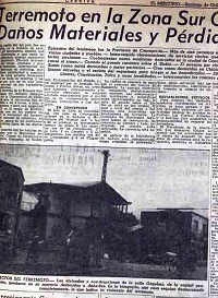 TERREMOTO MAREMOTO VALDIVIA, 22 mayo 1960