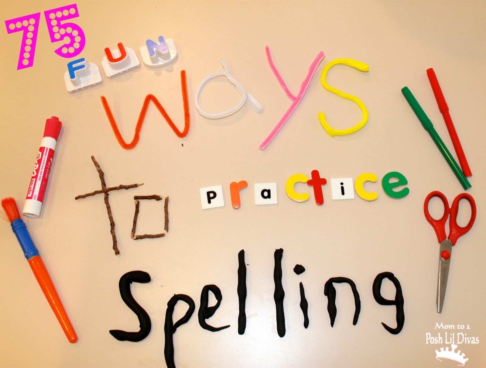 ... Dough Words - use play dough to form letters to spell out each word