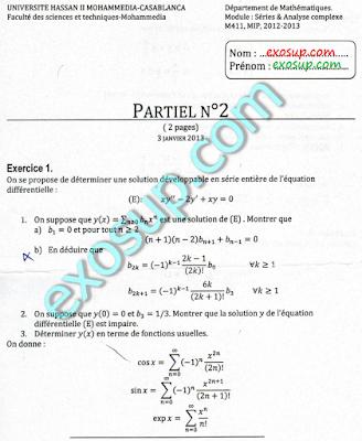 analyse complexe td et examens FST Mohammedia