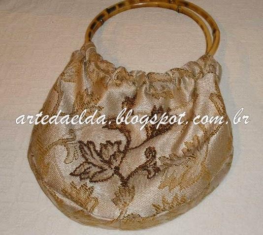 Bolsa De Tecido Com Alça De Bambu : Arte da elda bolsa com al?a de bambu