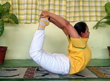 Hatha Yoga Dhanurasana Pose