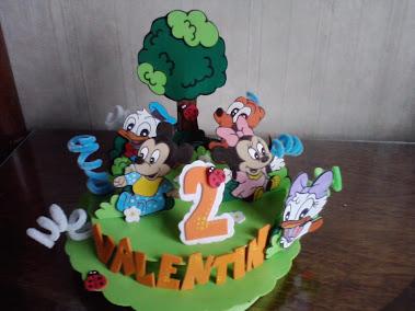 adorno de torta mickey baby