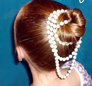 Peinado Niña de las Flores, Cabello Recogido, parte 1
