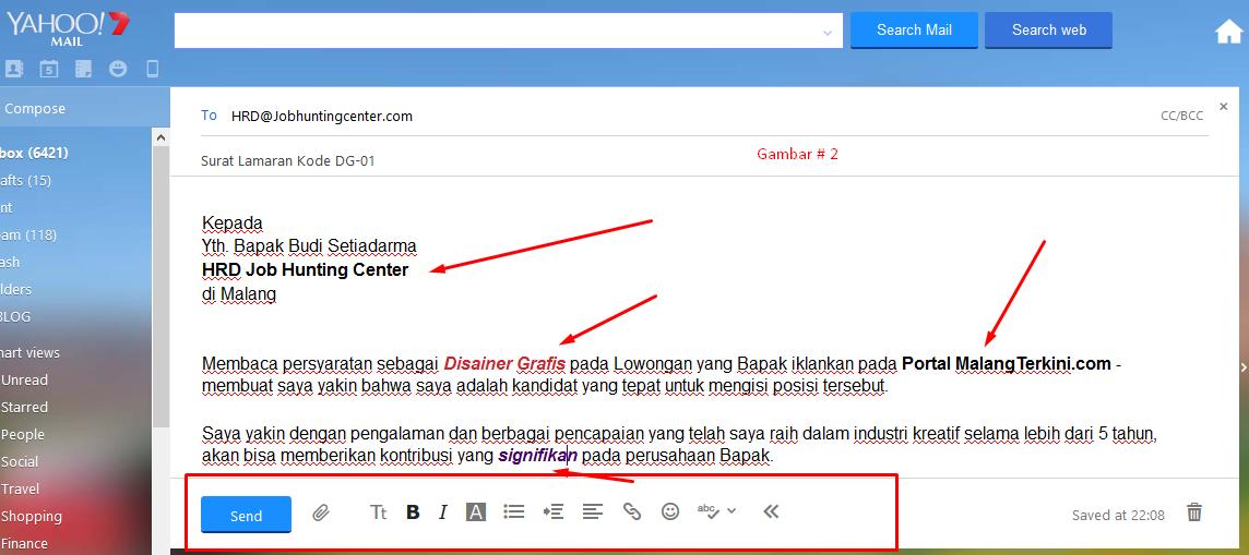 Cara Mengirim Surat Lamaran Lewat Email # 1