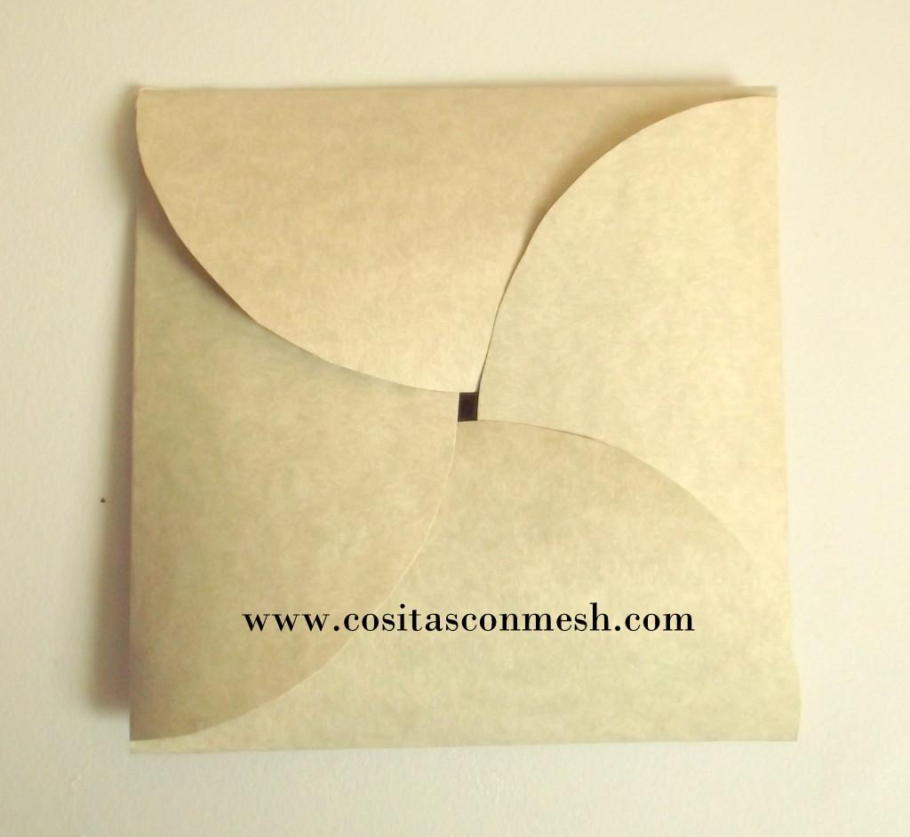 Manualidades sobres de papel f cil cositasconmesh for Como construir piletas de material