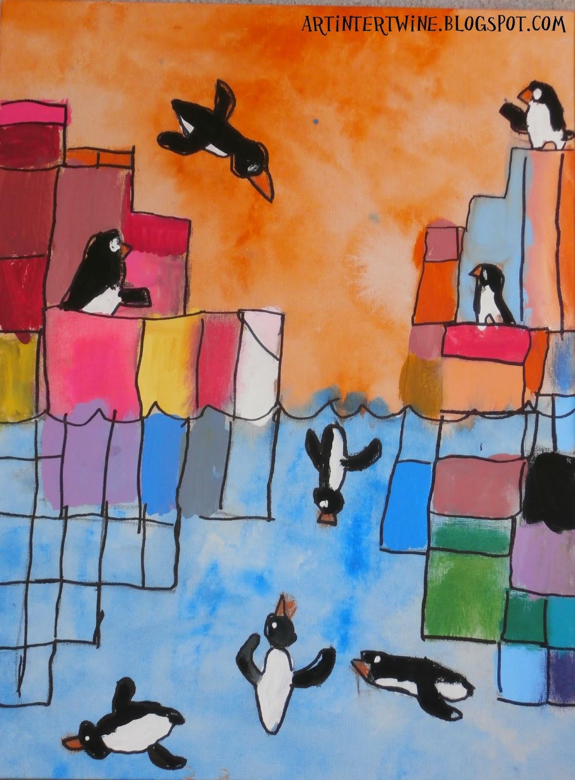 Art Intertwine - Penguin Art For Kids