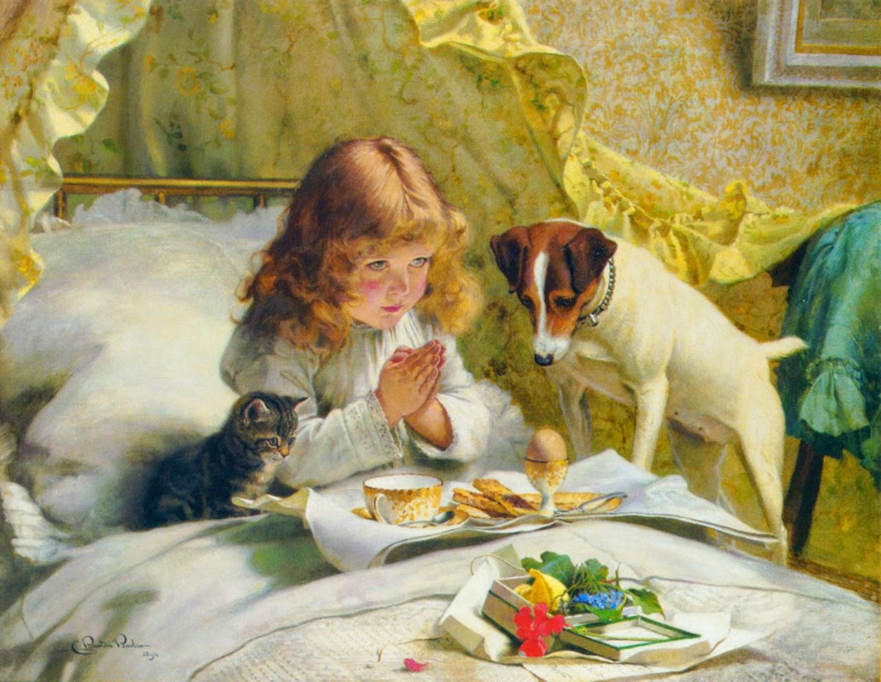 pintura de cachorro e gato