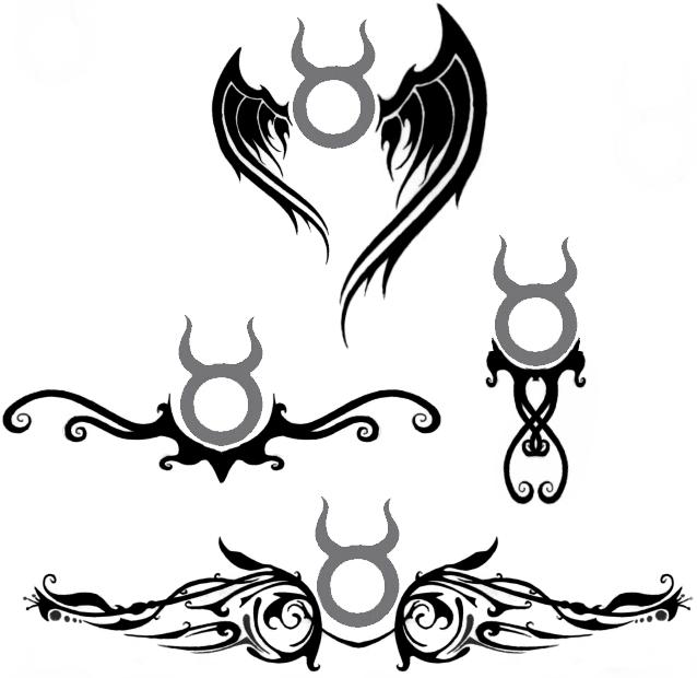 Whatevercathieb Taurus Tattoo Designs Zodiac Tattoos border=